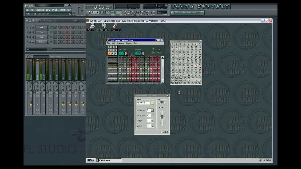 fruity loops 1.0 - YouTube