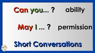 Can you...? / May I...? | Easy English Conversation Practice | ESL.