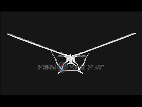 Leonardo Da Vinci - Flying Machine - B&W Animation