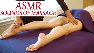 ASMR Massage Sounds, No talking, Skin Rubbing & Brushing Sounds, Tickling, Tapping