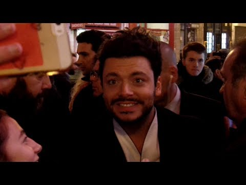 Kev Adams et Vincent Elbaz pour l'avant-première du film Tout là-haut au Grand Rex de Paris, 07.12