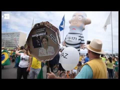 Multitudinarias protestas en Brasil contra el Gobierno de Rousseff