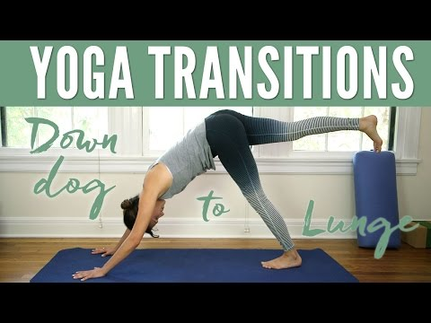 Yoga Tips Transitions Down Dog to Lunge