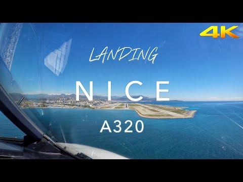 Landing in Nice | Cockpit View 4K