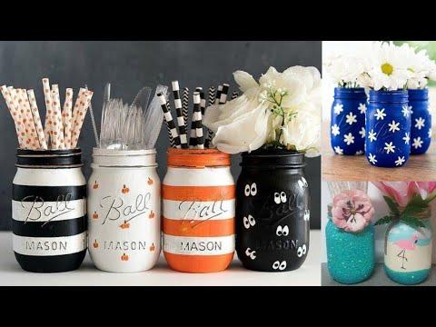 easy-mason-jar-crafts-|-glass-jar-decoration-ideas-|-painting-on-glass-jar-|-fnf-creations