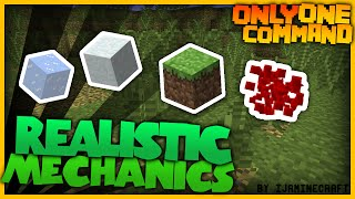 Minecraft - Realistic Mechanics in one command! | Small Vanilla Creation