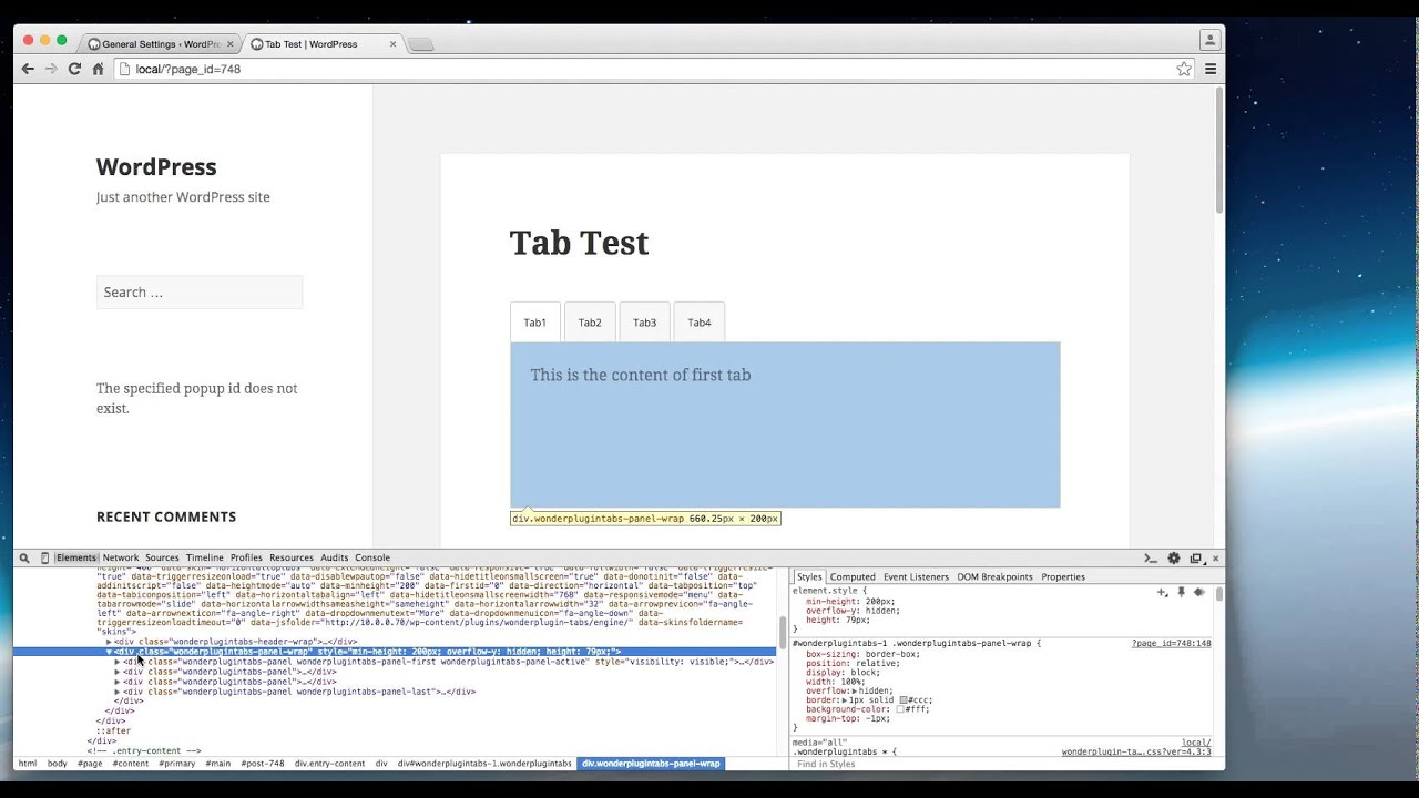 How to use Google Chrome Developer Tools to find the class name or ID of  webpage elements