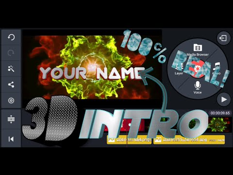 How to make real! 3d intro in ur android device