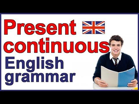 Present Continuous verb | Present progressive verb | English present tense
