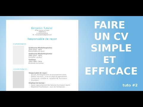 Comment faire un cv styl avec open office youtube - Realiser un organigramme open office ...