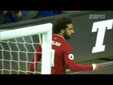 Com gol solitário de Salah, Liverpool vence o Huddersfield