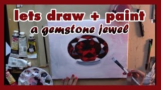How to Draw and Paint a Gemstone Jewel - Artist Rage