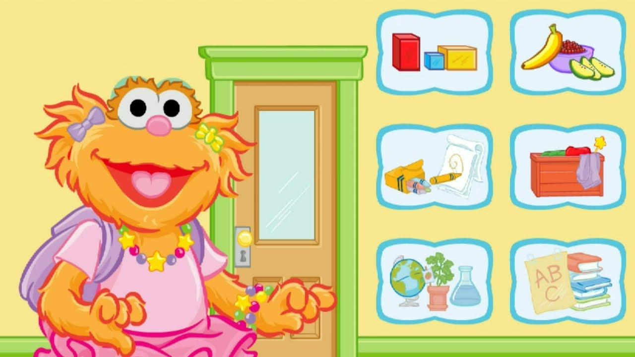 Sesame Street Zoe's Classroom Exploration Kids Games - YouTube