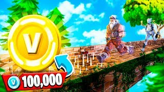 1V1 RACE FOR 100K VBUCKS CHALLENGE! (Fortnite Temple Run)
