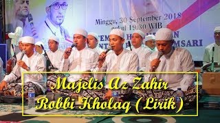 Download Lagu Az Zahir - Robbi Kholaq (Lirik) mp3