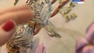 В Народной галерее ОДНТ прошел мастер-класс по вышивке лентами (ГТРК Вятка)