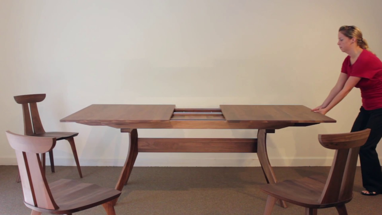 Modern Dining Table With Extension Audrey Trestle Extension Table | Vermont Woods Studios