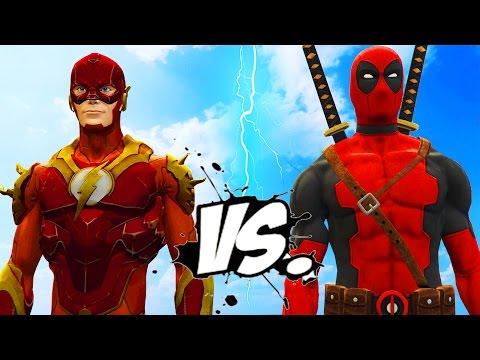 DEADPOOL VS FLASH - EPIC SUPERHEROES BATTLE