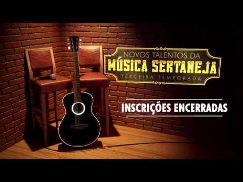 Chamada do concurso Novos Talentos da Música Sertaneja da TV Anhanguera Goiás