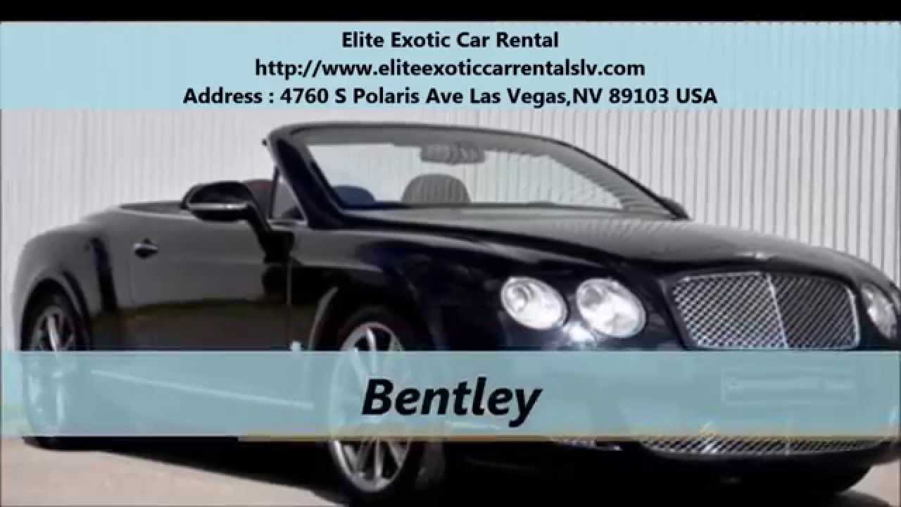 Elite Exotic Car Rental Luxury Car Rentals Las Vegas Nv Youtube