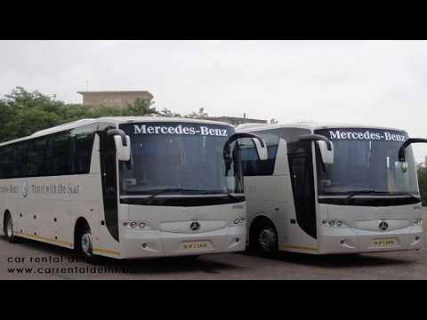 Mercedes benz luxury Bus Hire From Delhi - www.carrentaldelhi.biz - or call us @ 9971350893