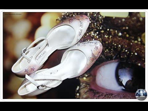 Brautschuhe Handbemalt Individuell Personalisiert Hochzeit Kuenstler