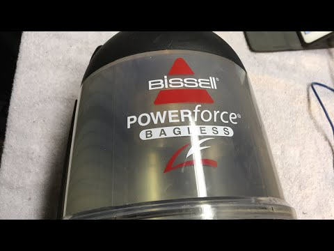Bissell Powerforce Bagless 6579-2 tear down and cleaning part 2