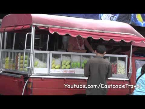 fresh fruit and coffee  mobile vendors  Thailand
