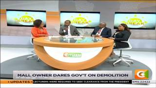 Taj mall owner dares Govt on demolition #DayBreak
