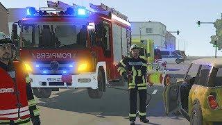 Emergency Call 112 – Belgian Firefighters to Car Crash! 4K