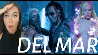 FEMALE DJ REACTS TΟ LATIN MUSIC Ozuna x Doja Cat x Sia - Del Mar (Official Music Video) REACTION