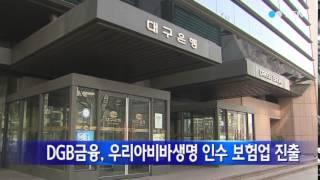 [경북] DGB금융, 우리아비바생명 인수 보험업 진출 …