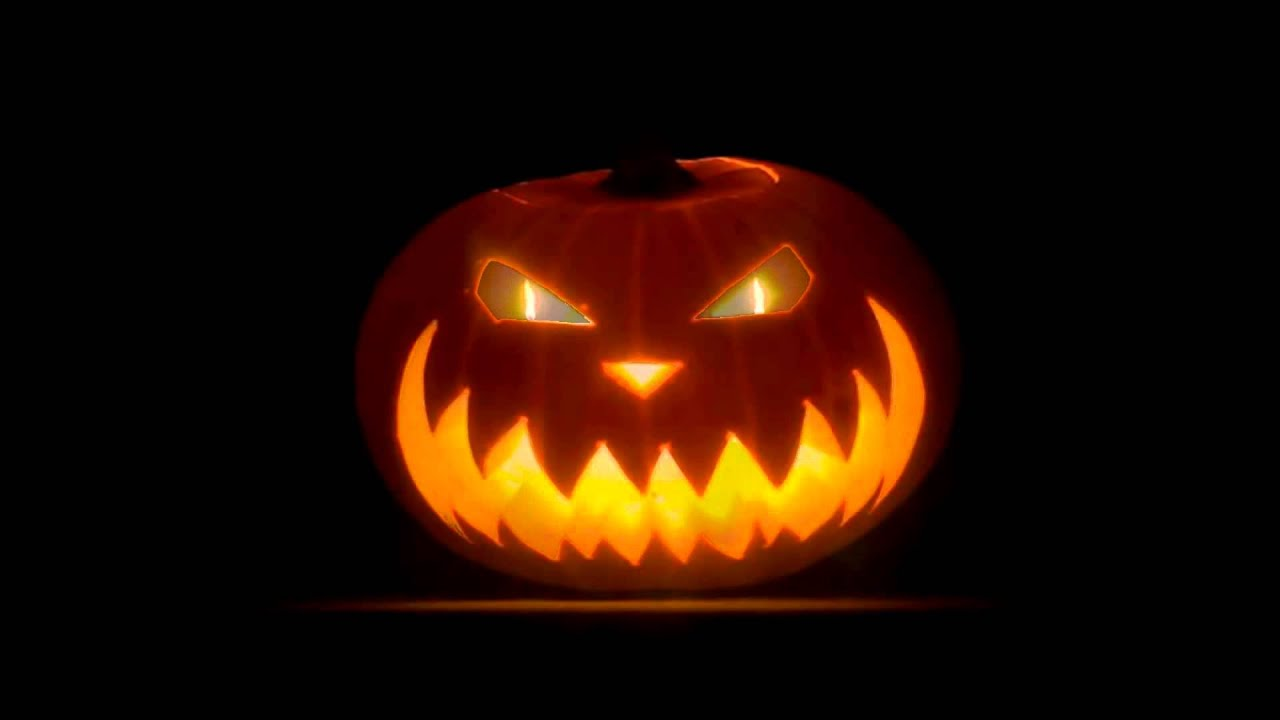 evil halloween pumpkin with creepy horror ambience sounds hd