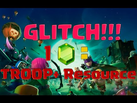 [FIXED]RESOURCE+TROOPS=1 GEM! Clash Of Clans Halloween Update GLITCH!!!