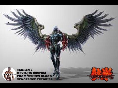 Tekken 6 Devil Jin Customization Blood Vengeance Devil Form Tutorial By Fazares Youtube