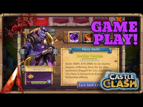 Castle Clash New Hero Revenant! Double Evolved 10/10 Double Trouble Gameplay!
