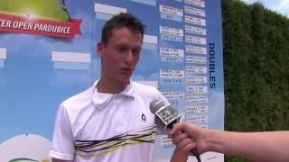 David Poljak po prohře ve druhém kole na turnaji Futures v Pardubicích