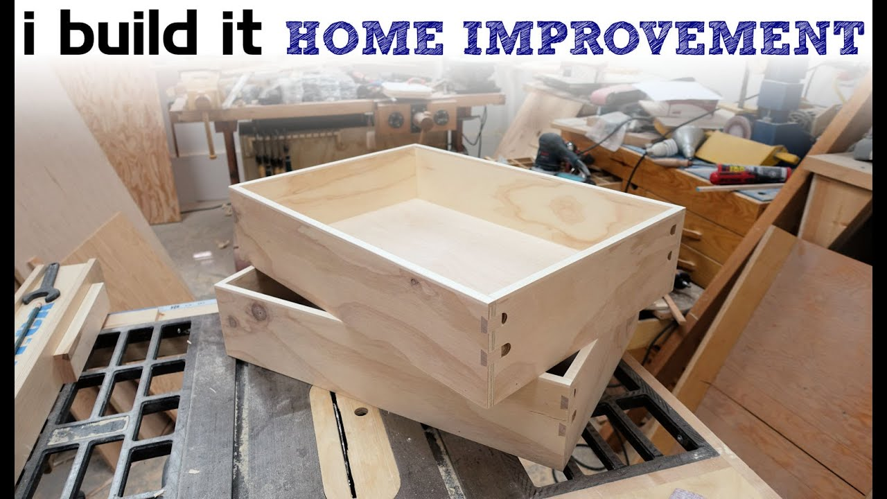 How To Make Drawers The Easy Way - Kitchen Cabinet Build ...
