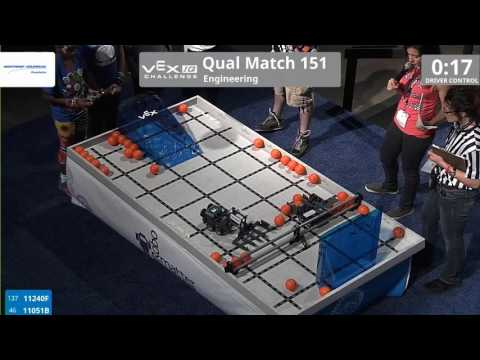 VEX Worlds 2016 - VEXIQ Elementary School - Engineering - Qual 151 (11240F 11051B) 33