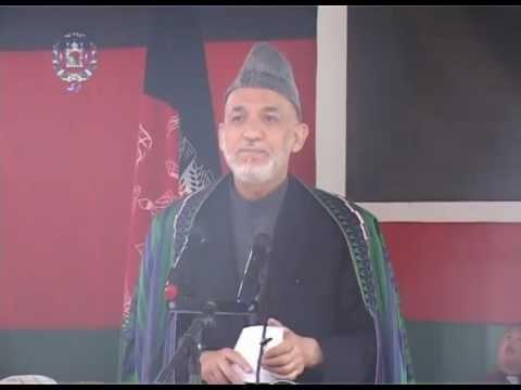 TV Report -- President Karzai's visit to Farah province -- April 08, 2013