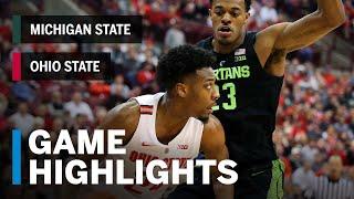 Highlights: Michigan State at Ohio State   Big Ten Basketball