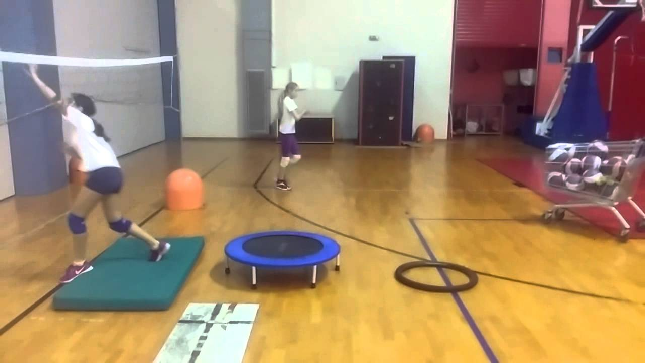 volleyball attack with tennis ball - YouTube