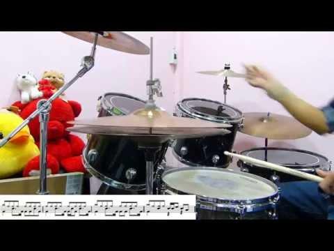 แค่คุณ musketeers โน้ตกลองชุด  drum cover