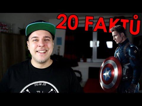 20 FAKTŮ - Kapitán Amerika