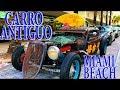 Un Carro de Carrera Antiguo en Miami Beach. Mira esto.