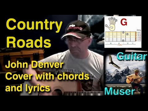 Country Roads - Chords & (how to) Play Along video - John Denver cover