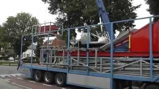 Kermis Wijchen 2015 opbouw en transport deel 1