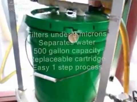 Waste Vegetable Oil Filter / Used WVO for fuel.wmv