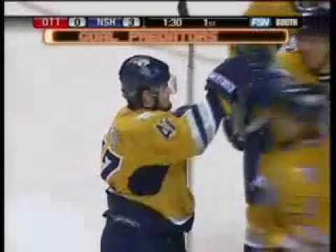 Alex Radulov goal #10 of rookie season for Predators vs Senators (2006)