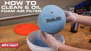 How To Clean & Oil a Foam Air Filter on Motorcycle or ATV